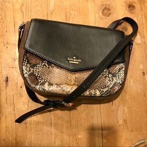 ♠️ Snakeskin / Black Leather Crossbody Bag ♠️